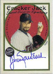 2005 Topps Cracker Jack Secret Surprise Mini Autographs #JS Johan Santana B