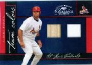 2005 Donruss Classics Team Colors Materials #2 Albert Pujols Bat-Jsy/100