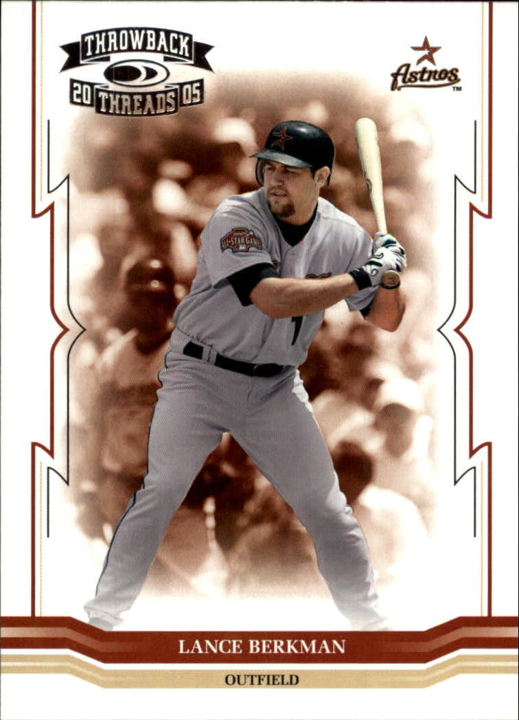 2005 Throwback Threads #17 Lance Berkman