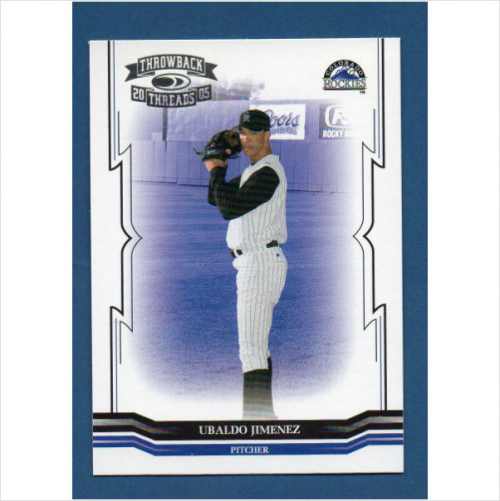 2005 Throwback Threads #106 Ubaldo Jimenez RC