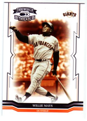 2005 Throwback Threads #289 Willie Mays RET