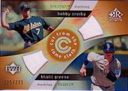 2005 Reflections Cut From the Same Cloth Dual Jersey #CG Bobby Crosby/Khalil Greene