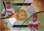 2005 Reflections Cut From the Same Cloth Dual Jersey #VJ Jose Vidro/Nick Johnson