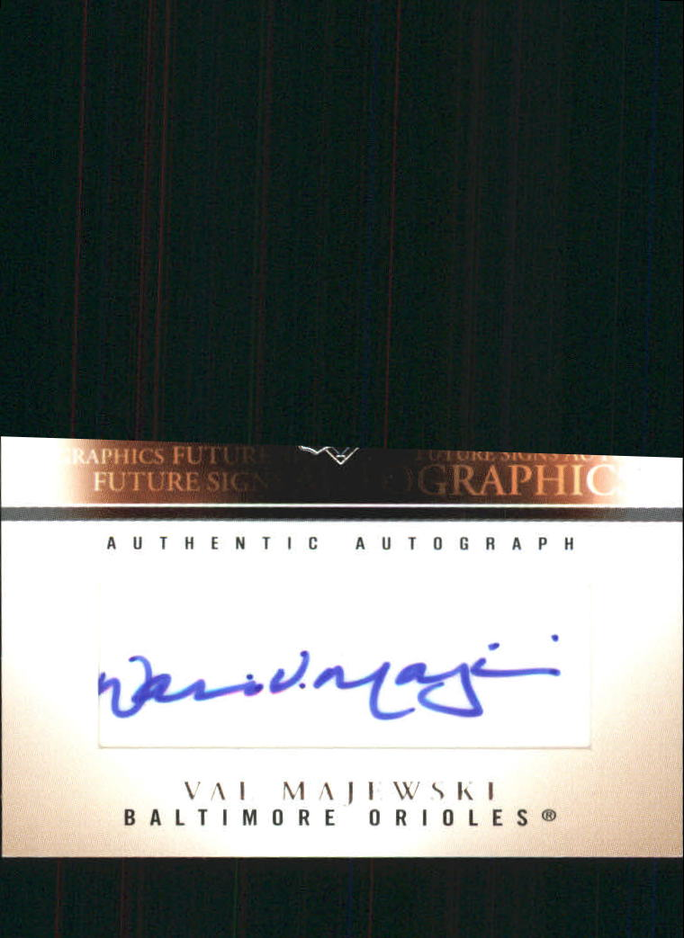2005 SkyBox Autographics Future Signs Autograph Silver Embossed #VMJ Val Majewski