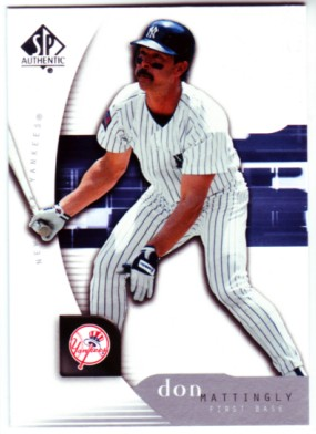 2005 SP Authentic #33 Don Mattingly