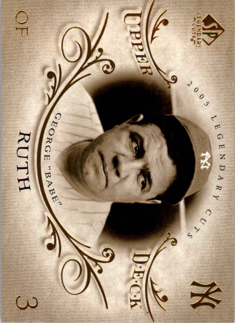 2005 SP Legendary Cuts #2 Babe Ruth