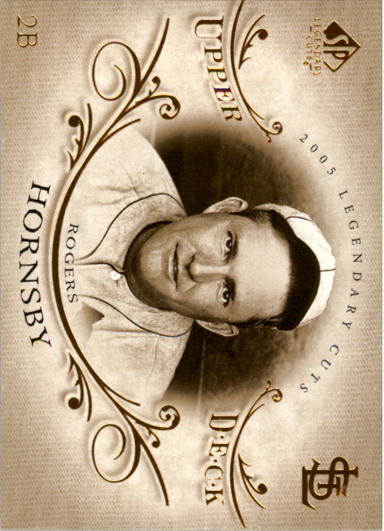 2005 SP Legendary Cuts #71 Rogers Hornsby