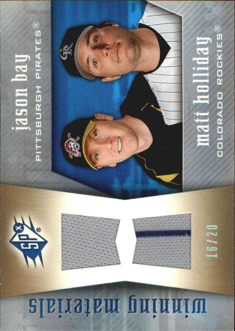 2005 SPx Winning Materials Dual Jersey #AY Jason Bay/Matt Holliday