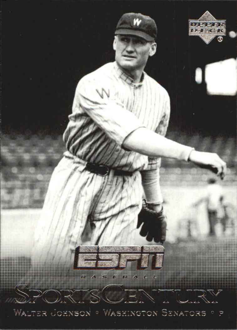 2005 Upper Deck ESPN Sports Century #SC8 Walter Johnson