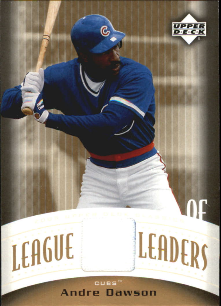 2005 Upper Deck Classics League Leaders Materials #AD Andre Dawson Jsy