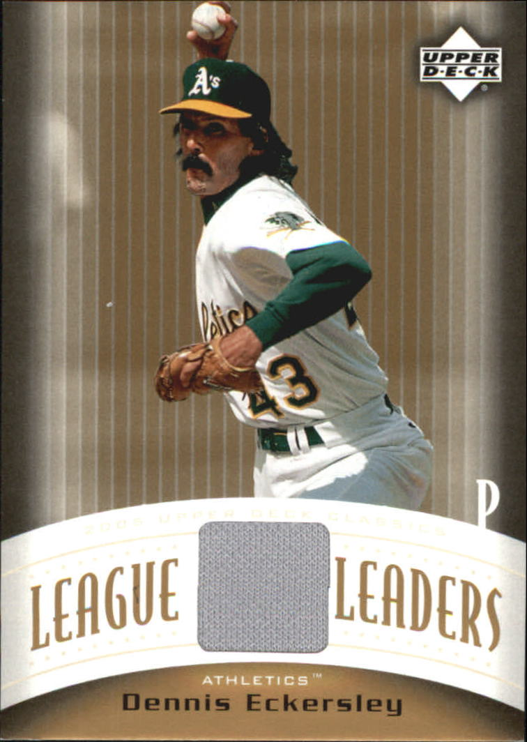 2005 Upper Deck Classics League Leaders Materials #DE Dennis Eckersley Jsy