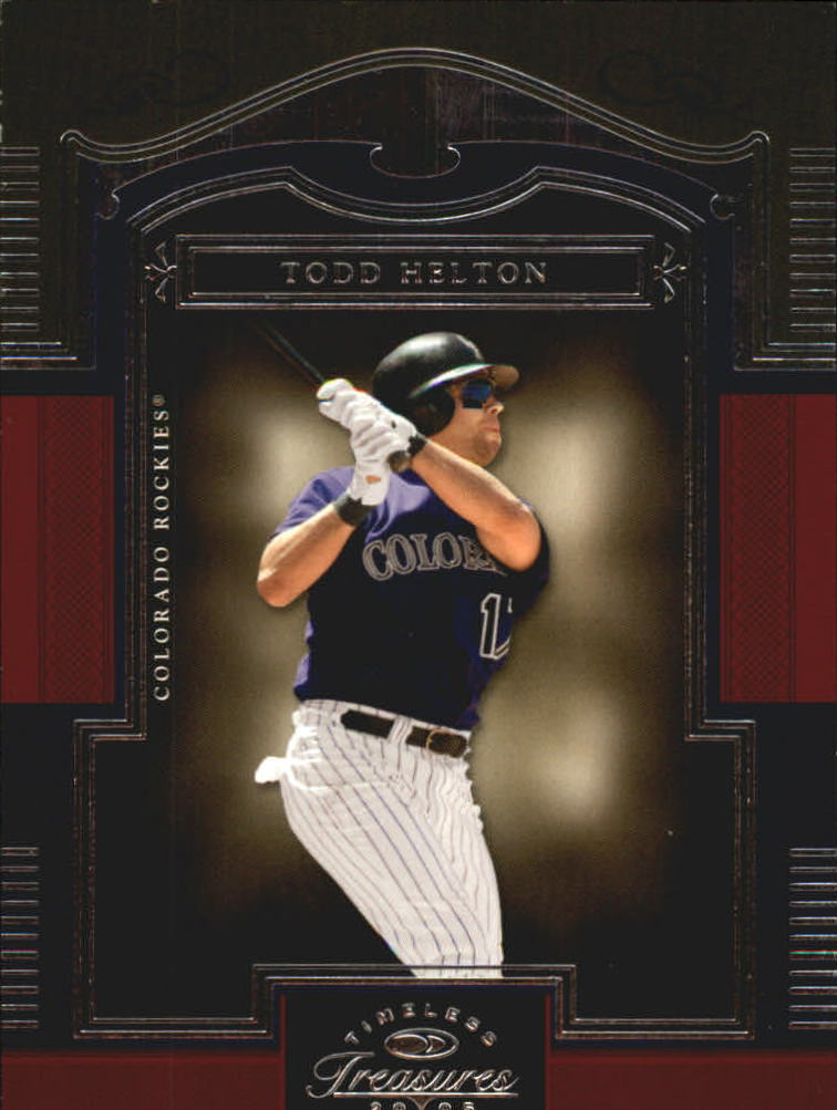 2005 Timeless Treasures #58 Todd Helton
