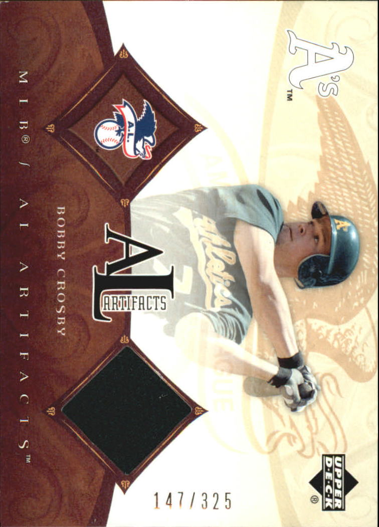 2005 Artifacts AL/NL Artifacts #BC Bobby Crosby Jsy/325