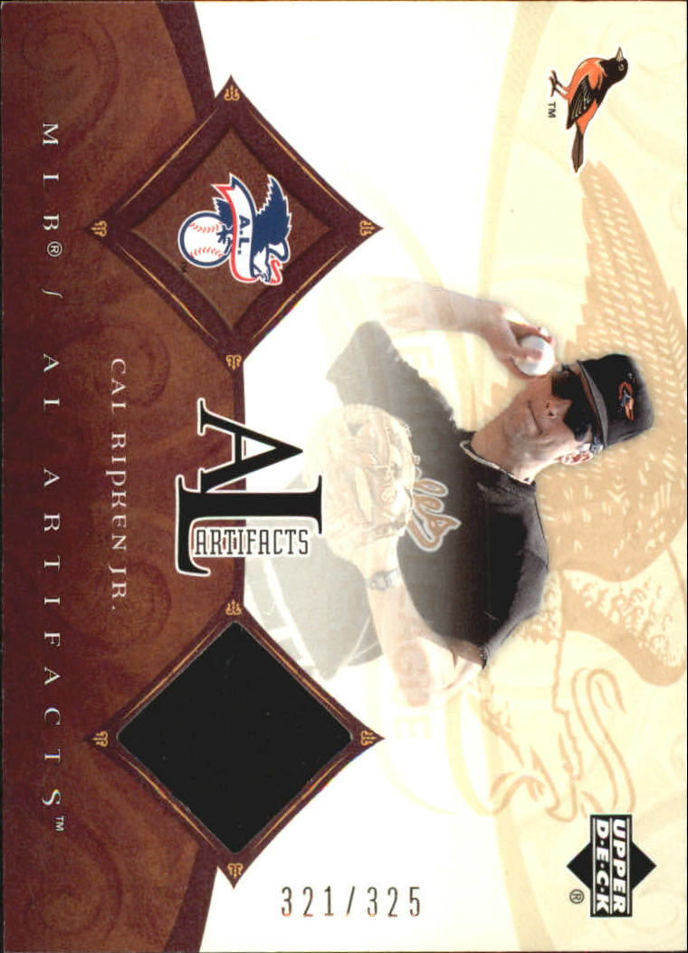 2005 Artifacts AL/NL Artifacts #CR Cal Ripken Jsy/325