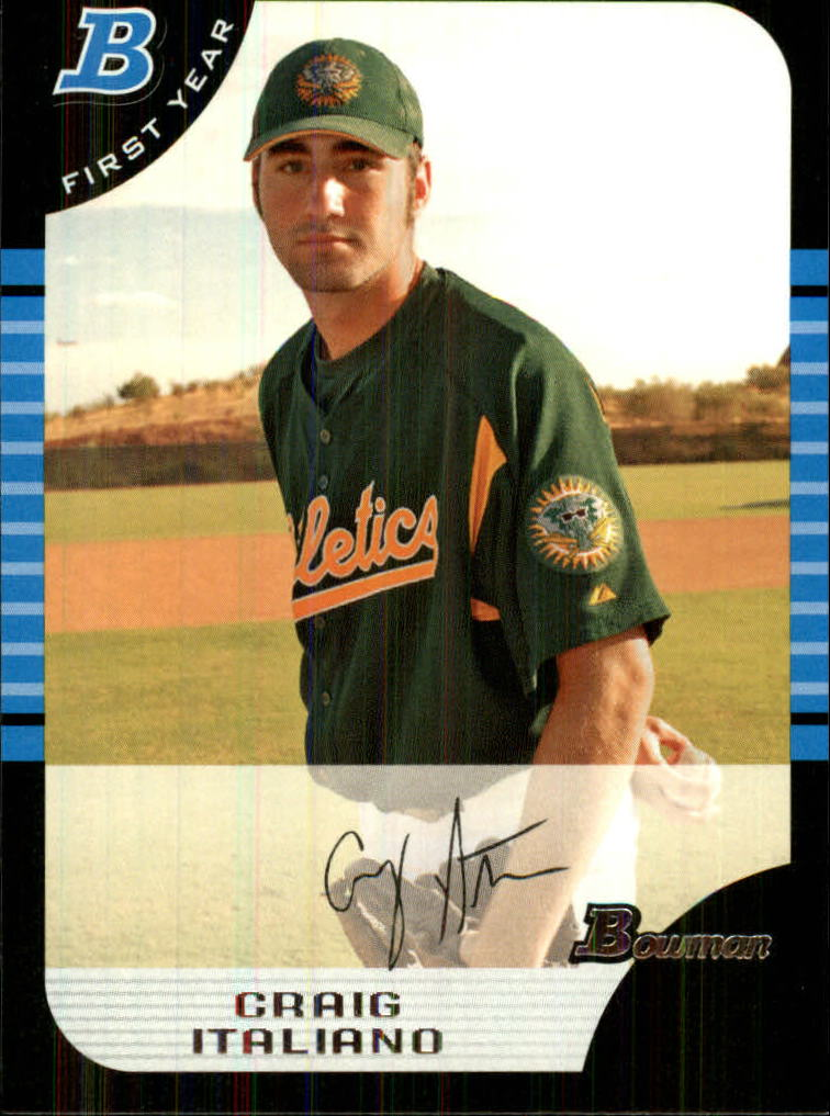 2005 Bowman Draft #72 Craig Italiano FY RC