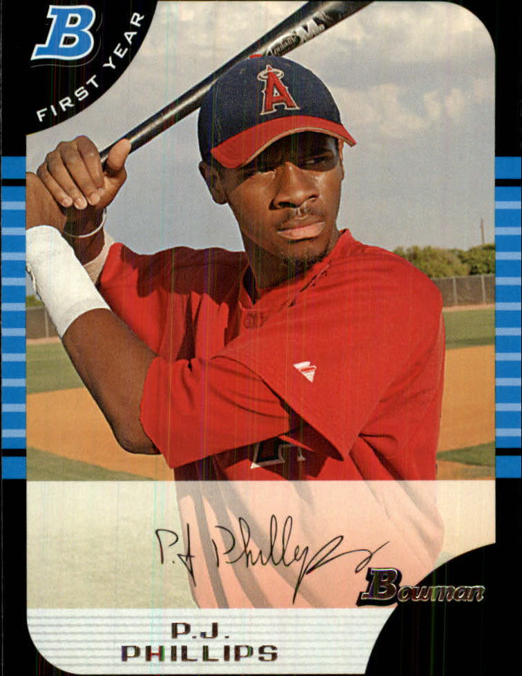 2005 Bowman Draft #102 P.J. Phillips FY RC