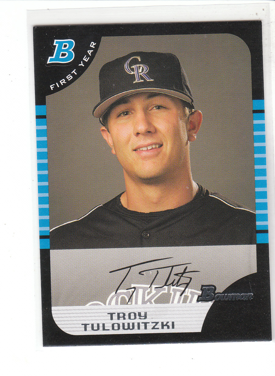 2005 Bowman Draft #105 Troy Tulowitzki FY RC