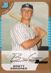2005 Bowman Draft Gold #85 Brett Gardner FY front image
