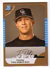2005 Bowman Draft Gold #105 Troy Tulowitzki FY