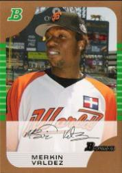 2005 Bowman Draft Gold #132 Merkin Valdez PROS