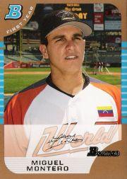 2005 Bowman Draft Gold #137 Miguel Montero FY