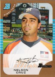 2005 Bowman Draft Gold #165 Nelson Cruz FY
