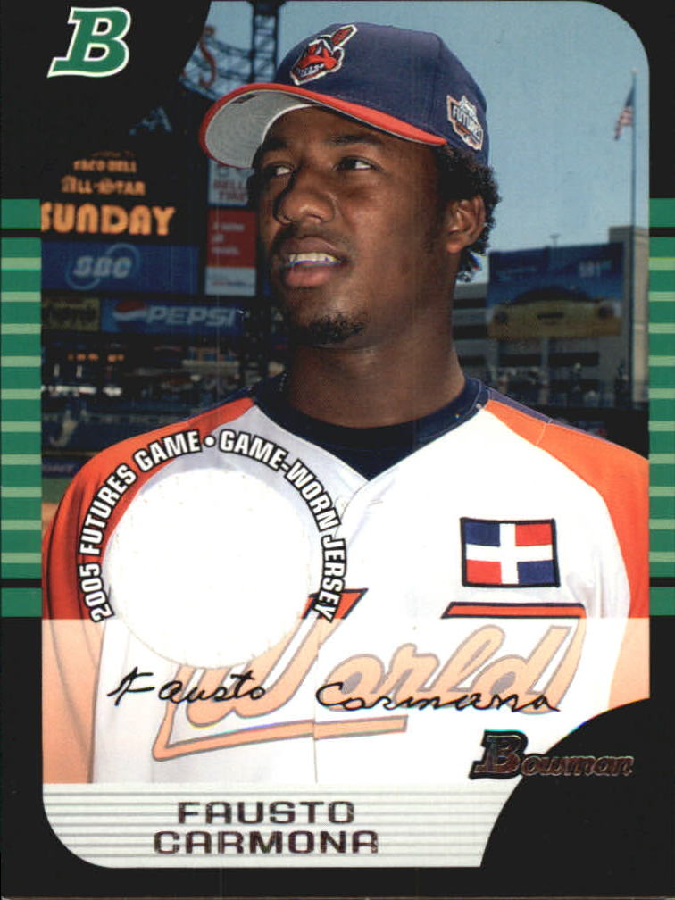 2005 Bowman Draft Futures Game Jersey Relics #122 Fausto Carmona