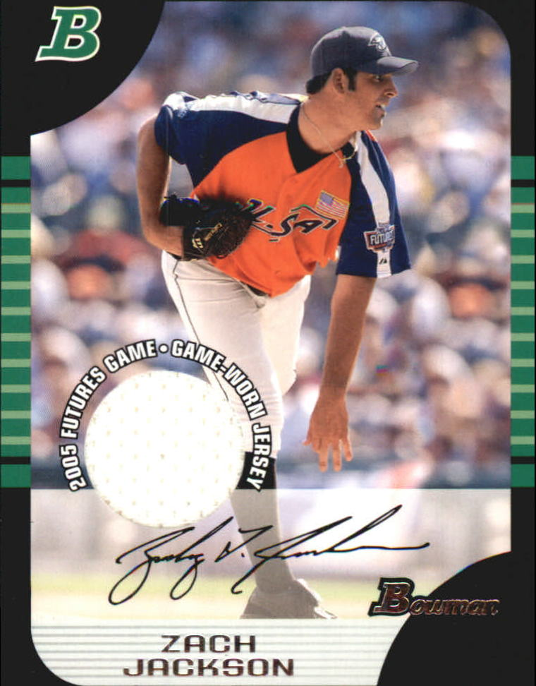 2005 Bowman Draft Futures Game Jersey Relics #123 Zach Jackson