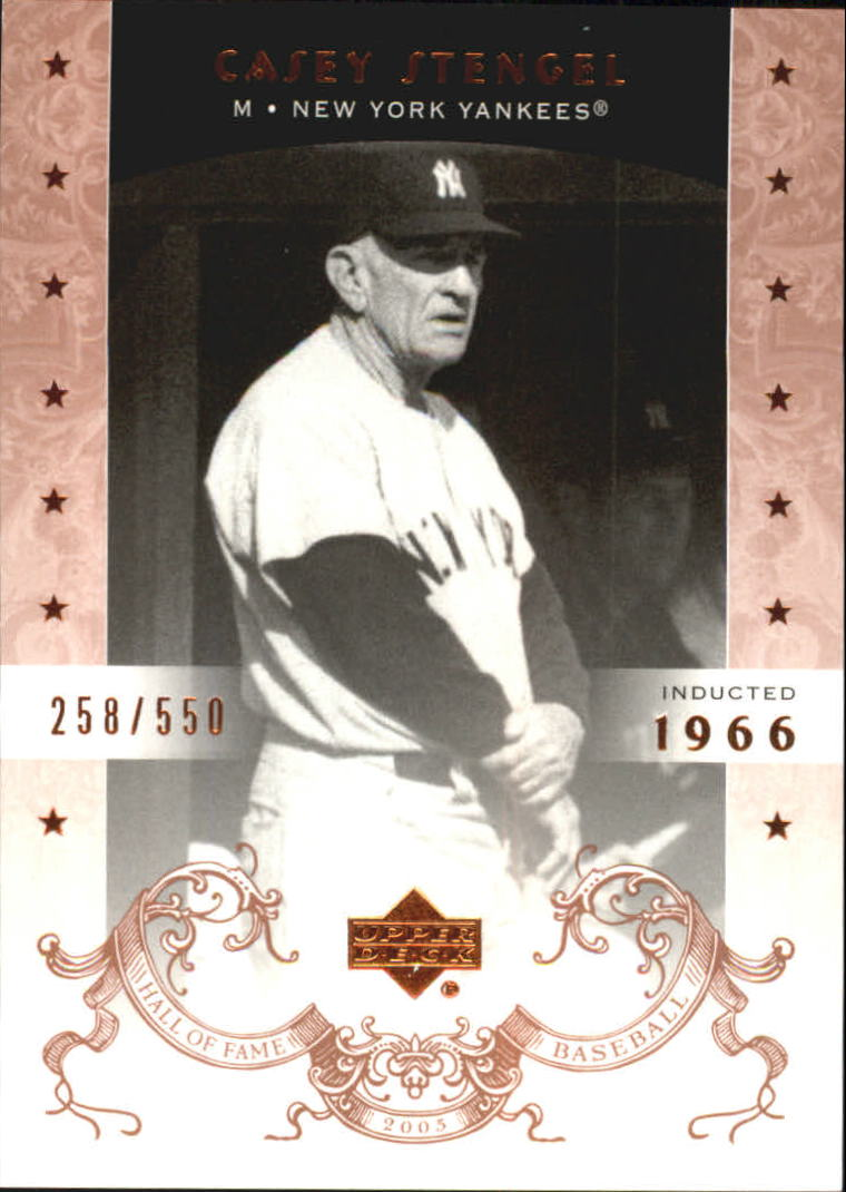 2005 Upper Deck Hall of Fame #13 Casey Stengel