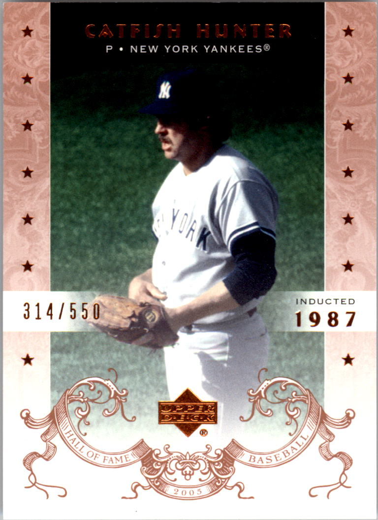 2005 Upper Deck Hall of Fame #14 Catfish Hunter