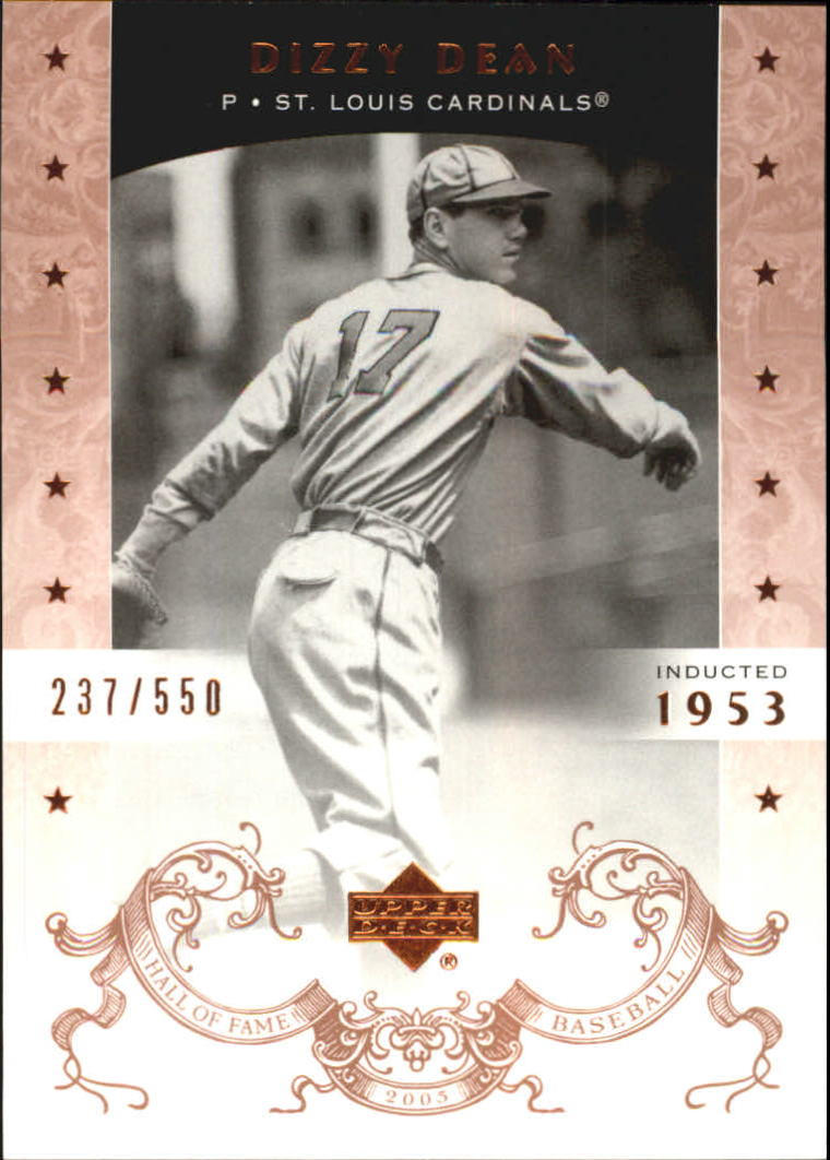 2005 Upper Deck Hall of Fame #17 Dizzy Dean