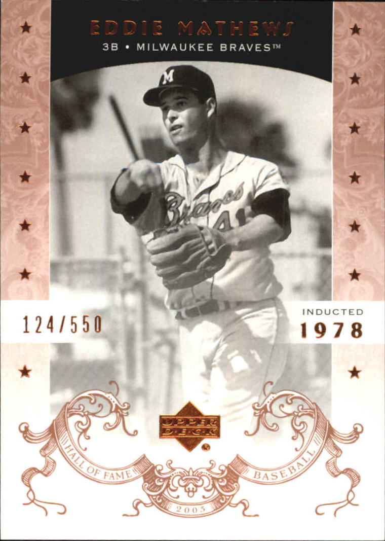 2005 Upper Deck Hall of Fame #22 Eddie Mathews