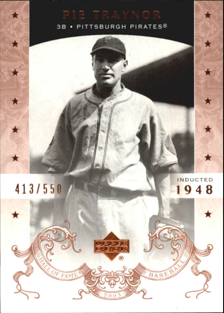 2005 Upper Deck Hall of Fame #59 Pie Traynor