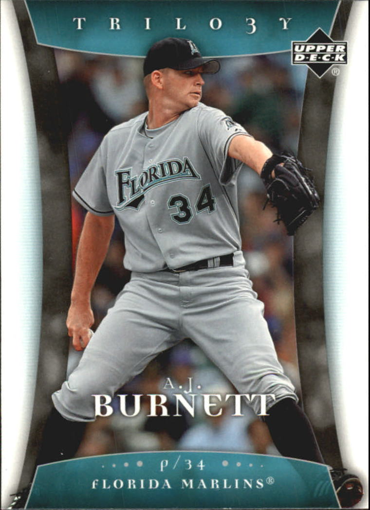 2005 Upper Deck Trilogy #1 A.J. Burnett