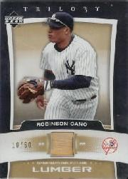 2005 Upper Deck Trilogy Generations Future Lumber Gold #RC Robinson Cano