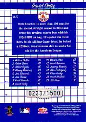 2005 Donruss Longball Leaders #5 David Ortiz back image