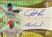 2005 Reflections Dual Signatures #JLRH Justin Leone/Ryan Howard T3