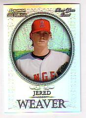 2005 Bowman Sterling Refractors #JWE Jered Weaver