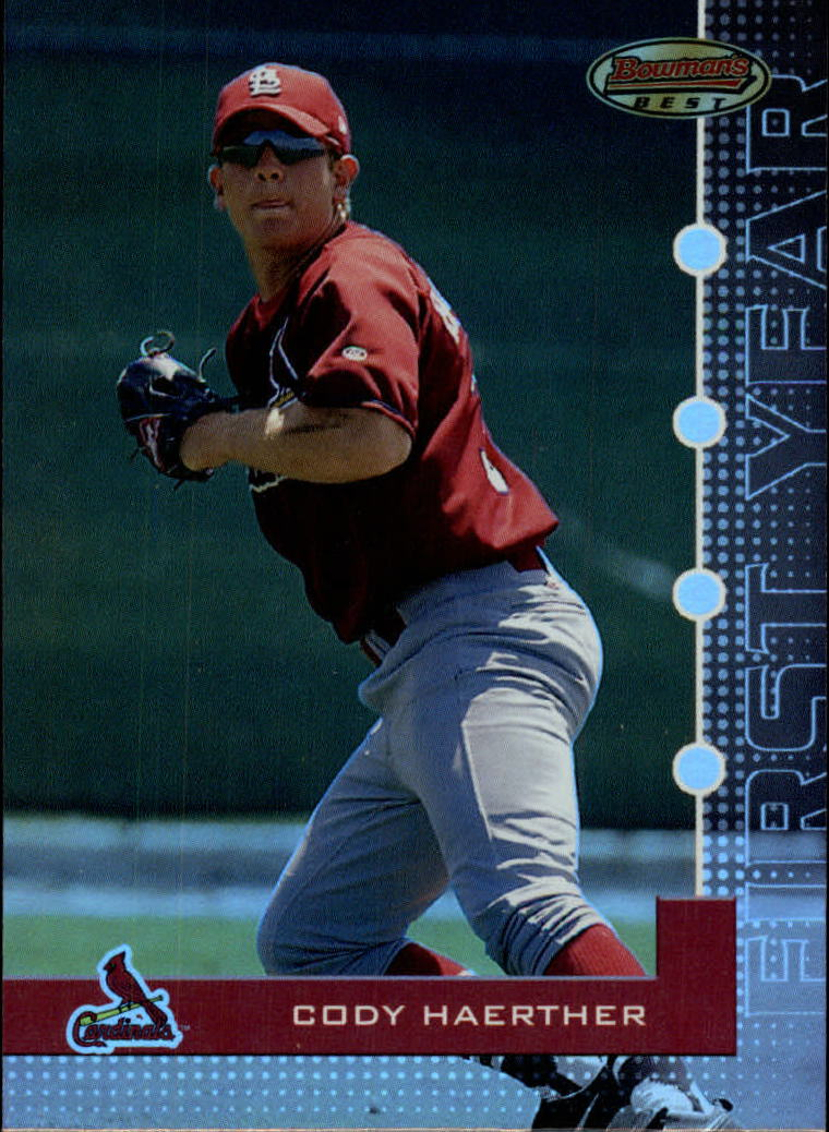 2005 Bowman's Best #48 Cody Haerther FY RC
