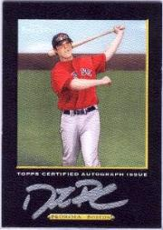2005 Topps Turkey Red Autographs Black #DP Dustin Pedroia B/99