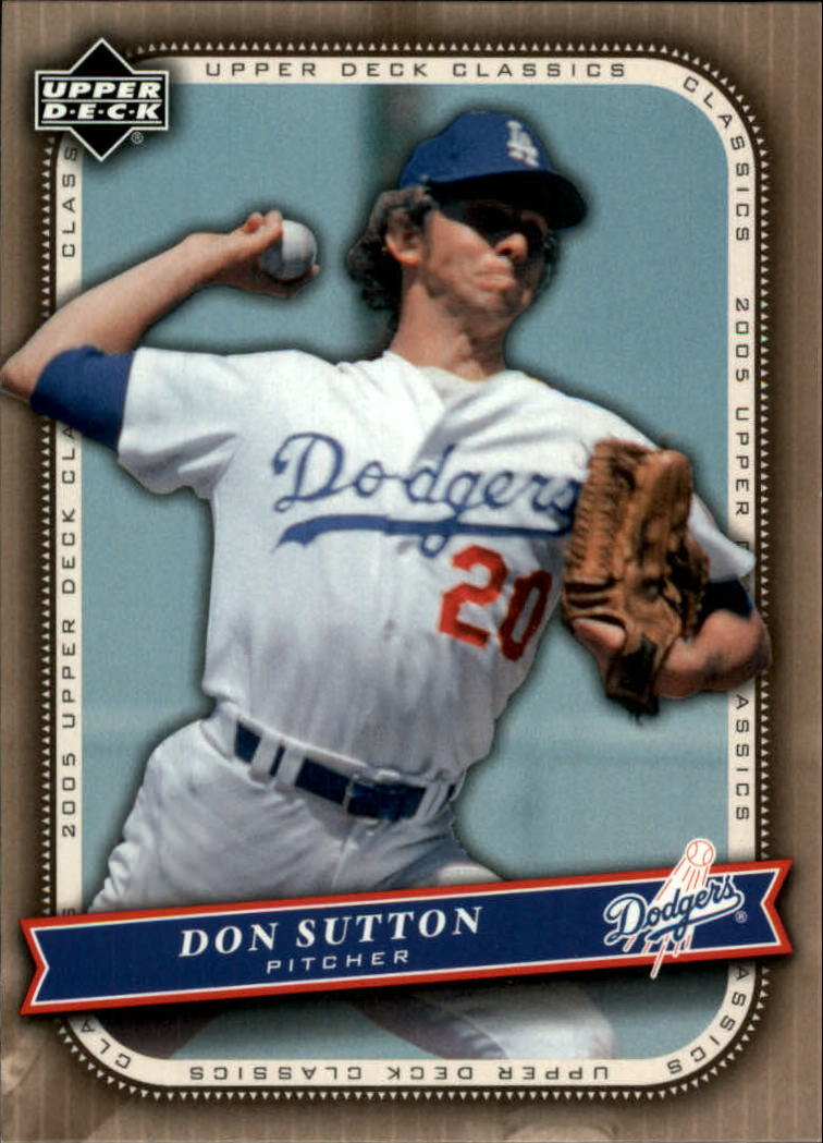 2005 Upper Deck Classics #27 Don Sutton