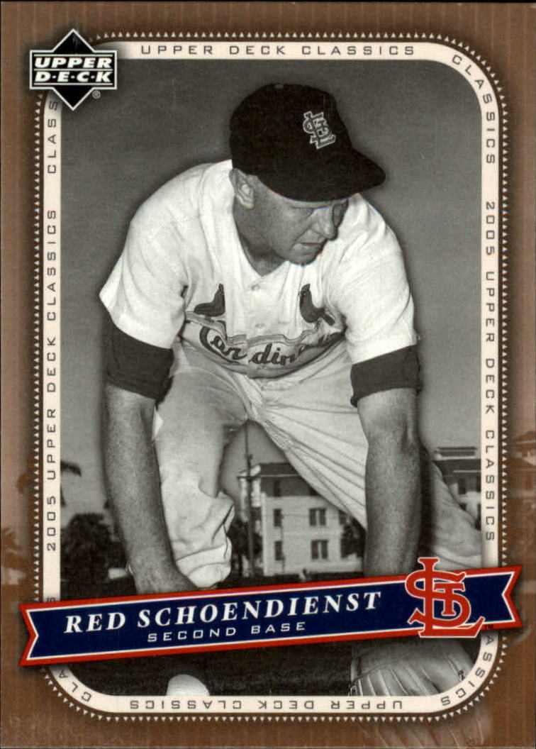2005 Upper Deck Classics #80 Red Schoendienst
