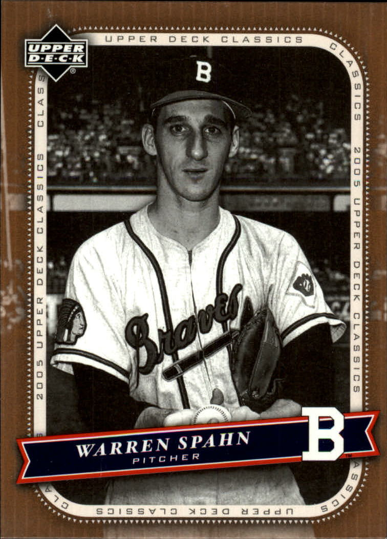 2005 Upper Deck Classics #96 Warren Spahn