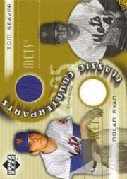 2005 Upper Deck Classics Counterparts Materials #RS Nolan Ryan Jsy/Tom Seaver Jsy