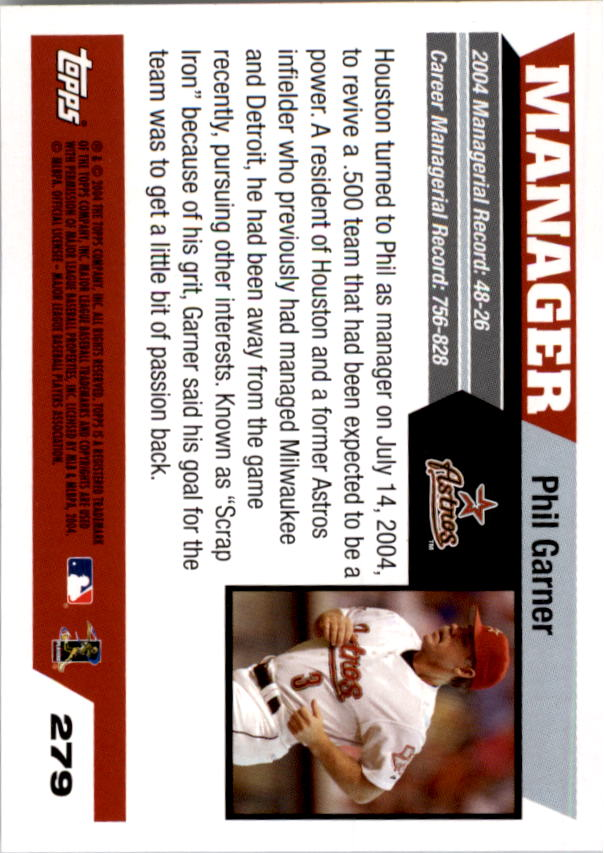 2005 Topps #279 Phil Garner MG back image