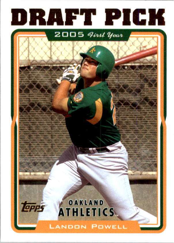 2005 Topps #676 Landon Powell FY RC