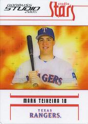 2005 Studio Stars #44 Mark Teixeira