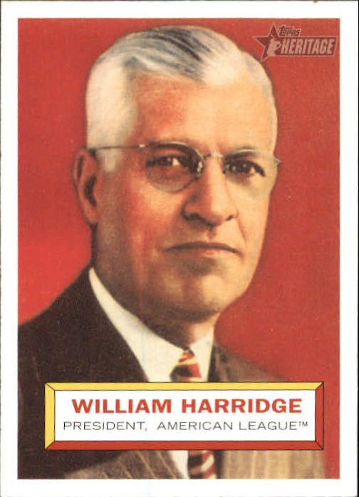 2005 Topps Heritage #1 Will Harridge