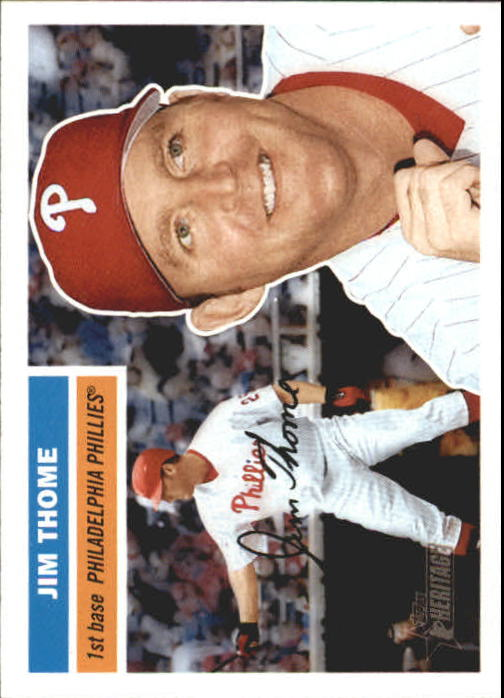 2005 Topps Heritage #50A Jim Thome At Bat