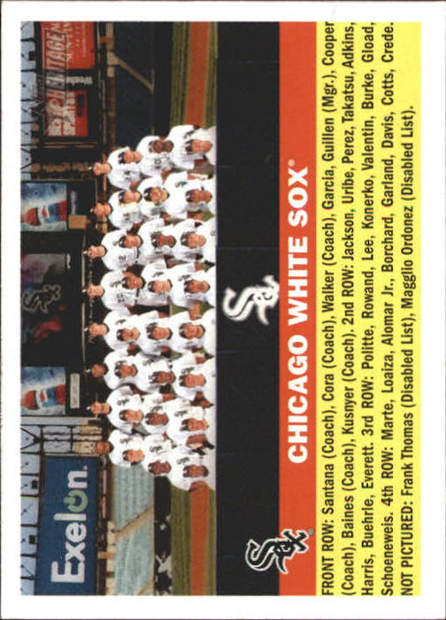 2005 Topps Heritage #188 Chicago White Sox TC